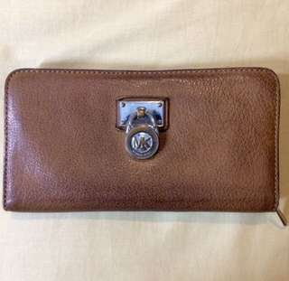 REPRICE!! Michael Kors Hamilton Wallet - Brown (Preloved)