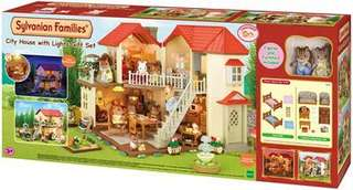 Sylvanian Families - city house with lights set