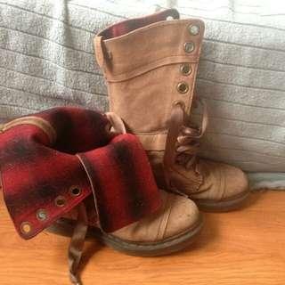 Ladies' Dr. Marten's Distressed Brown Boots