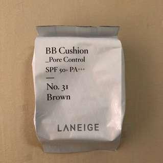Laneige BB Cushion Pore Control No.31 Brown refill