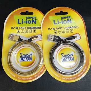 Li-Ion Fast Charging Cable iPhone/Android