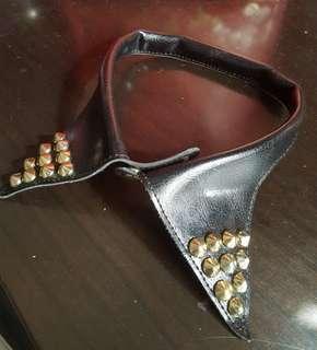 Black collar choker with studs