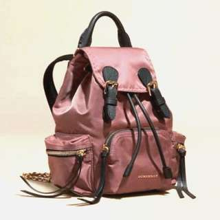 Burberry Backpack Medium Rucksack in Technical Nylon and Leather