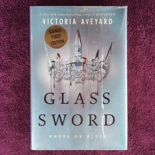 SIGNED FIRST EDITION Glass Sword by Victoria Aveyard