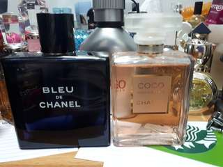 Coco Mademoiselle and Bleu De Chanel perfume combo