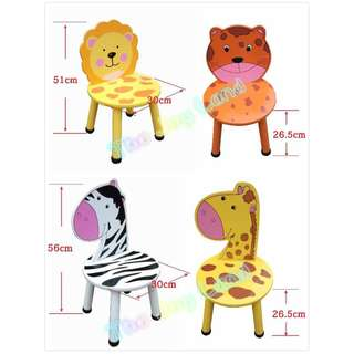 Wooden Cartoon Chairs, Wooden Animal Chairs