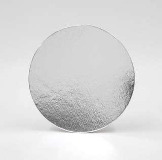 """8"""" Round Silver """"RM Box"""" Cake Board"""