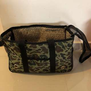 camouflage dog bag carrier L 35-36cm H 23cm W 14cm