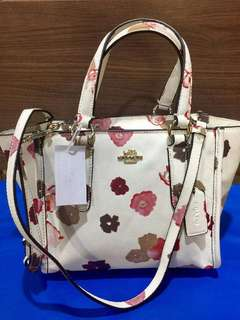 Two way coach floral bag