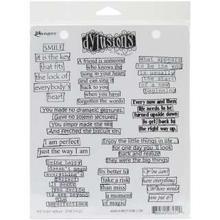 Dylusion rubber stamps - The Right Words