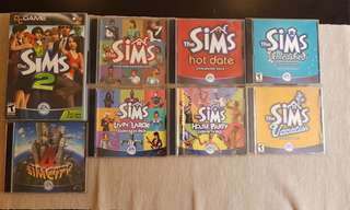 The Sims with expansion packs