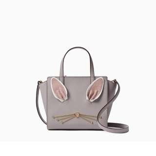 SALE Kate Spade Hop To It Bunny Rabbit Mini Hayden Crossbody Slingbag Handbag Satchel Nouveaux Grey