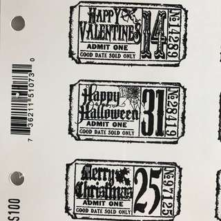 Tim Holtz Stampers Anonymous - Tickets stamp