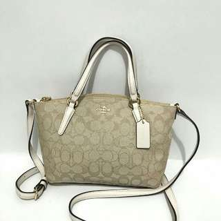 Coach Mini Kelsey Signature Chalk