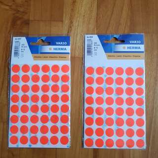 Red Dot Stickers Label