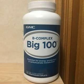 GNC 綜合維他命B 100 (250粒) GNC B-COMPLEX Big 100