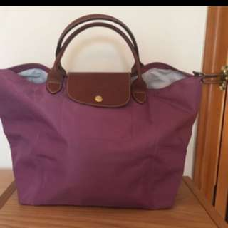 Longchamp purple size M, short handle, 90% new
