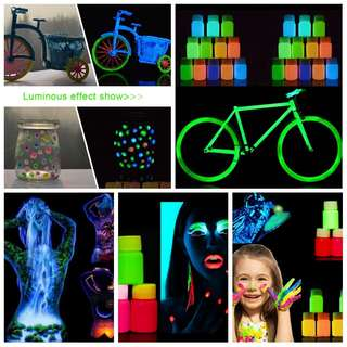 25g Glow In The Dark Acrylic Luminous Paint Bright Pigment Party Decorations
