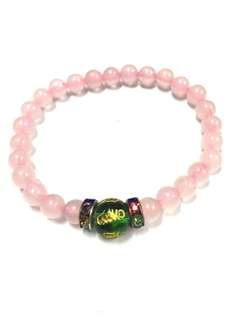 Rose quartz mantra bracelet