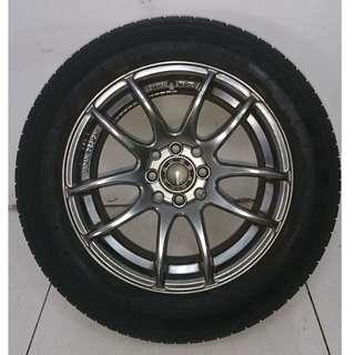15 '' Sport Rim With Tyre 4x100 4x114.3 (SR980)