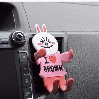 🚚 ✨日韓美著✨萌萌系可愛卡通卡扣式汽車導航支架smartphone car mount預購中