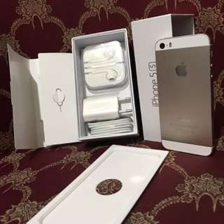 Iphone 5s 32gb Gold FU fullset normal bisa COD