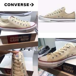 Women's Light Yellow All Star Converse Size 8