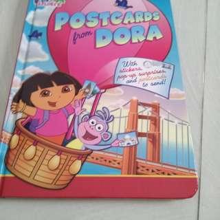 Hardboard the explorer postcards from Dora pop up book