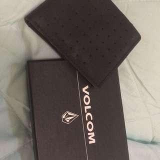 dompet kulit volcom (volcom leather wallet)