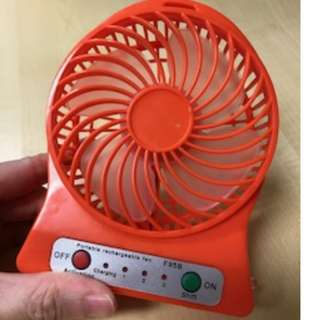 Portable Rechargeable mini Fan (with battery)