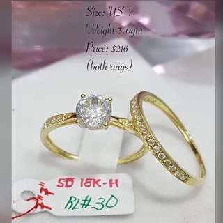 Genuine 18K|750 Gold Rings