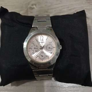 Pink silver watch