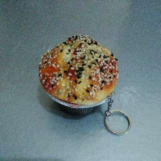 Gantungan Kunci Squishy Kue Cupcake Empuk