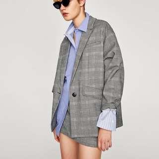 Zara Oversized Blazer and Skirt Set