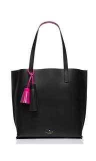 SALE Kate Spade Foster Court Tasha Tote Handbag Black Fuschia Sweetheart Pink