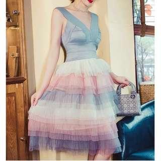 Ladies - Bandage Layered Tulle Dress L1753