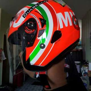 KYT Helmet - Mugello Design Wif Sun Visor & Anti Theft
