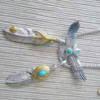 Eagle Feather Pendant Necklace