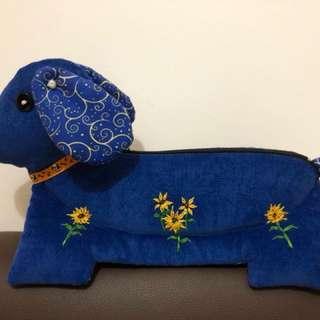 Handmade unique puppy pencil case