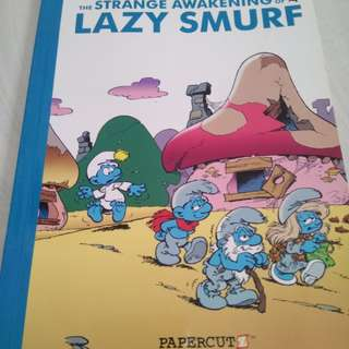 The strange awakening of lazy smurf comic