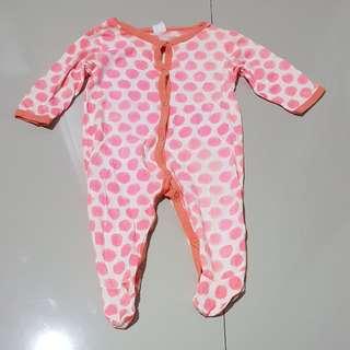 Sleepsuits 6-9 months,polkadot orange