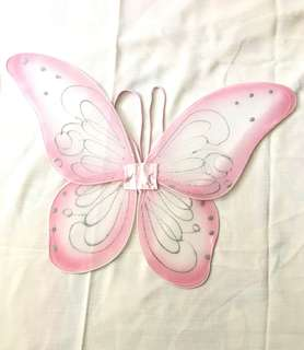 Charity Sale! Sprakly Wings Pink Butterfly Wings Costume Size 3 years and older
