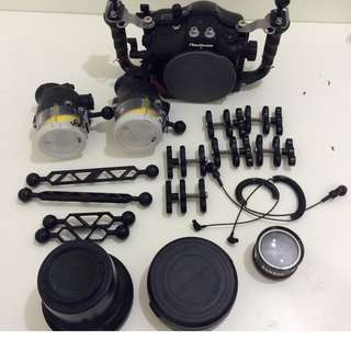 Used Nauticam NA-650D underwater housing and accessories for sale