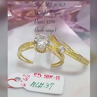 Genuine Gold 18K Rings