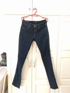 H&M Dark Blue Basic Denim Jeans size
