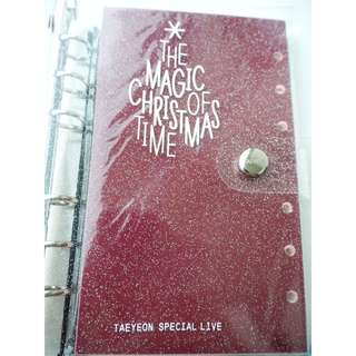 "TAEYEON SPECIAL LIVE-""The Magic Of Christmas Time"" Diary & Sticker set"