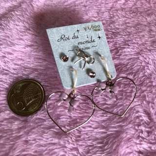 Heart Earrings ¥1,600 from Japan