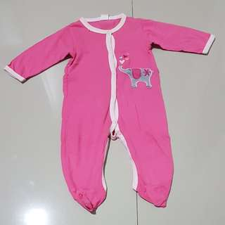 Sleepsuits pink 6-9 months
