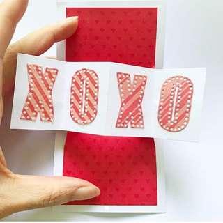 Twist and pop mini XOXO love card