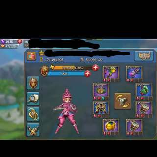 171M Lords Mobile account